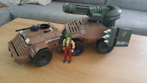 1988 GI Joe Mean Dog with complete driver