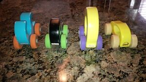 Wooden push cars