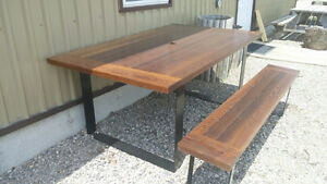 Thermo-treated Maple Patio Table Set