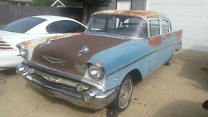 1957 chev 210 4 door project rat rod