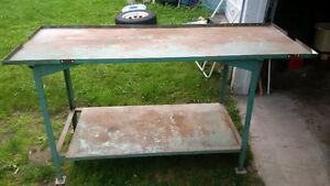Heavy Duty Steel Work Bench priced to sell at $200