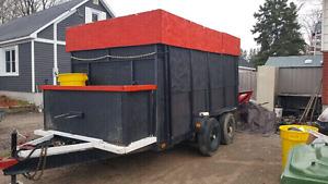 Waste disposal trailer