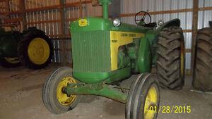 John Deere 830, JD 720, JD 60 antique tractors