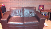 Natuzzi all Leather Love Seat- $350 OBO