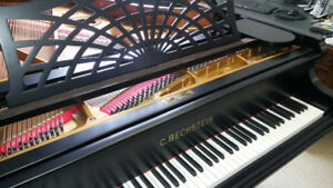 Fully restored and refinished C. Bechstein model B grand piano