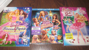 Barbie Movies - Set of 3 - 2 DVD & 1 Blu-Ray + DVD Set