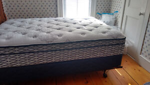 Brand New Double Mattress, Box Spring and Rails