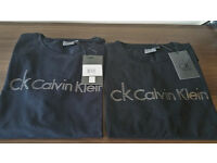 New Calvin Klein Crew Neck CK Jeans Polo Shirt S.M,L,XL 100% Authentic Clearance Sale