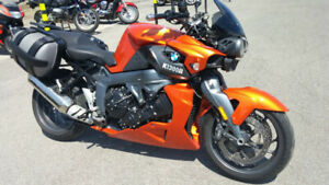 BMW K1300R Lava Orange with options in excellent condition.