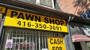 Second Hand Shop and Pawn shop closing