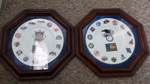 Royal Daulton 125th Anniversary baseball plates