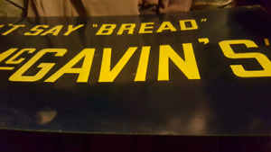 Metal bread promo sign..painted.embossed