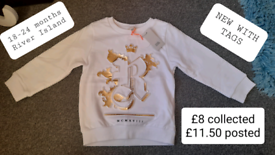 River island 18-24 months NEW