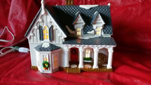Maisons Noël ,illuminée ,Département 56