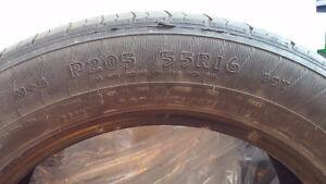 2 Goodyear P205/55R16 Used All Season Tires