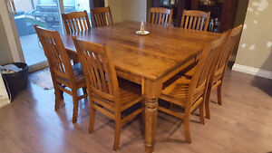 Gorgeous Old Hippy Dining Room Table with 12 Chairs