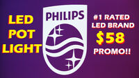 PHILIPS® INDOOR/OUTDOOR BEST-QUALITY LED POT LIGHT FROM $58
