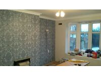 Painter and decorator, experienced wallpaper hangerer