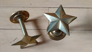 Brass Star curtain tie-backs