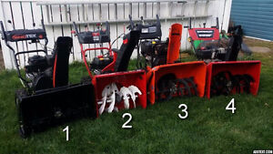 assorted snow blowers for sale