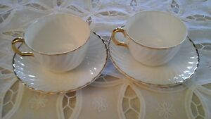 Fine Bone China Cup & Saucer (2)  Princess, Adderley, England