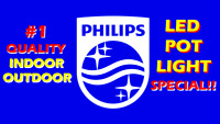 """#1 QUALITY PHILIPS® LED """"INDOOR/OUTDOOR"""" POT LIGHT INSTALLATION"""