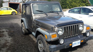 2003 Jeep TJ Soft and hard top Coupe (2 door)