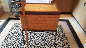 Bamboo Chest with Iron Stand
