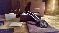 Brand New GUCCI Belt Limited Edition Real Leather Black