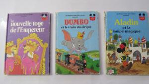 Trois (3) livres vintage Walt Disney Livre-Loisirs Ltée 1977