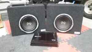 Subs and amp for sale....basically new!