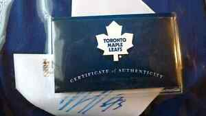 Signed authentic Toronto Maple Leafs Jersey  Kitchener / Waterloo Kitchener Area image 2
