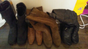 Four pairs of women's boots- size 8-8.5