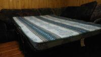 couch/queen bed, twin bed with mattress