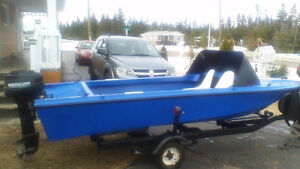 15 hp mercury with 14ft boat