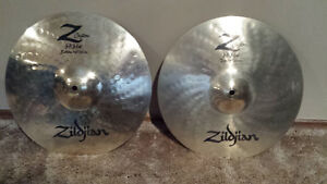 cymbals, double pedal, snare drum, rototoms for sale