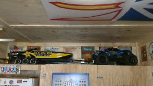 Rc truck, boat and trailer package