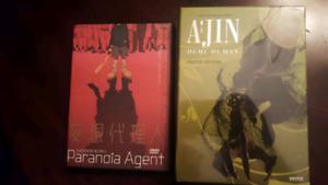 Ajin Season 2 Blu Ray anime box set and Paranoia agent