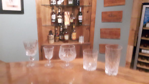 Cross and Olive crystal glasses