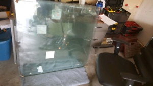 Tempered glass. Greenhouse, railing, project.
