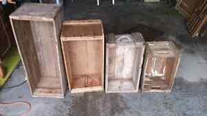 Antique wood crates