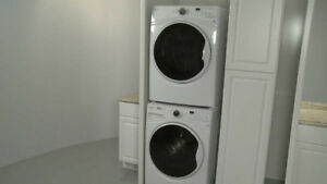 Washer and Dryer apt size. Stacked and Ventless