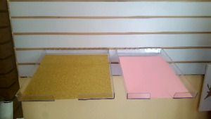 Scrapbooking paper trays and Slatwall