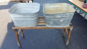 Wash Tub pair and Stand