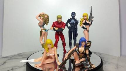 Space Adventure Cobra Gashapon set of 6 figures