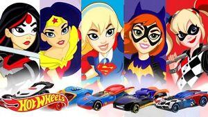 Hot Wheels DC Super Hero Girls Cars 1:64 scale