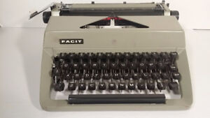 type writer - FACIT - MADE IN SWISS - avec encre - fonctionnel