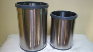Silver Trash Cans / Waste Baskets