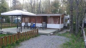 roulotte o camping lac  morin st-lin