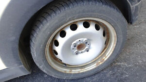 4 Winter Tires with rims (used on Mini Cooper) /4 Pneus d'Hiver West Island Greater Montréal image 1